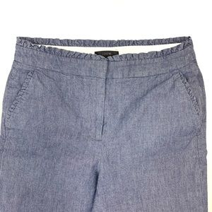 J. CREW Blue Chambray Crop Pant Size 2